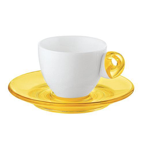 guzzini グッチーニ エスプレッソカップ6客セット 2232.0388イエロー 洋食器
