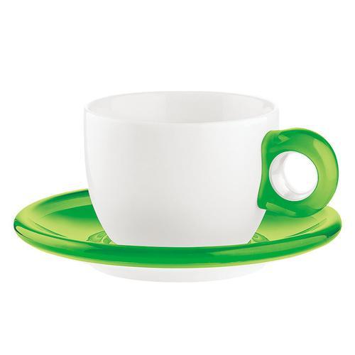 guzzini ティー/コーヒーカップ 2客セット 2774.0044グリーン コーヒー&紅茶