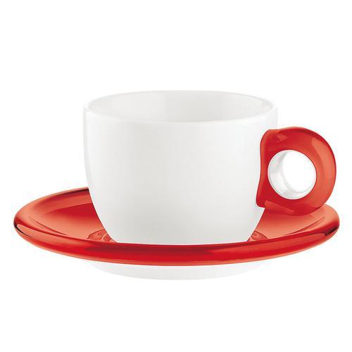 guzzini ティー/コーヒーカップ 2客セット 2774.0065レッド コーヒー&紅茶