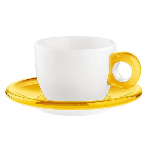 guzzini ティー/コーヒーカップ 2客セット 2774.0088イエロー コーヒー&紅茶