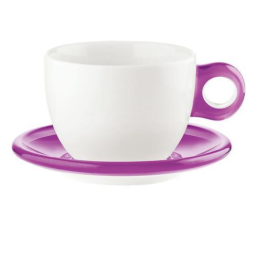 guzzini ラージコーヒーカップ 2客セット 2775.0001バイオレット コーヒー&紅茶