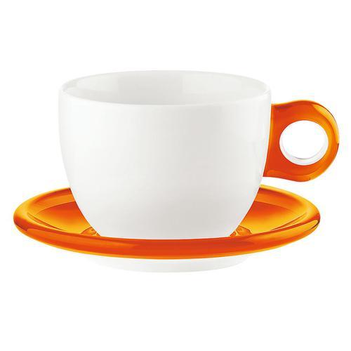 guzzini ラージコーヒーカップ 2客セット 2775.0045オレンジ コーヒー&紅茶