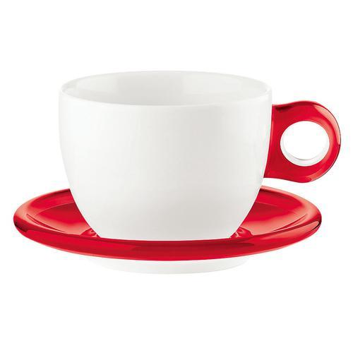 guzzini ラージコーヒーカップ 2客セット 2775.0065レッド コーヒー&紅茶