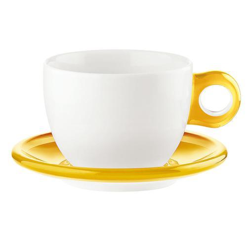 guzzini ラージコーヒーカップ 2客セット 2775.0088イエロー コーヒー&紅茶