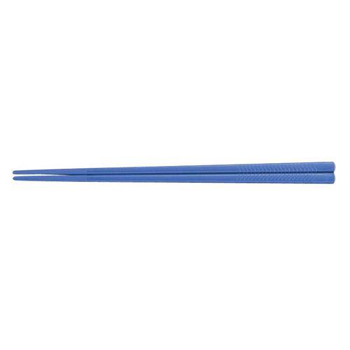 PETすべり止め付彫刻入箸(100膳入) PT-195ブルー 箸