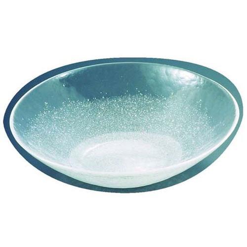 硝子和食器 白雪15 40cm 丸盛込皿 ガラス食器