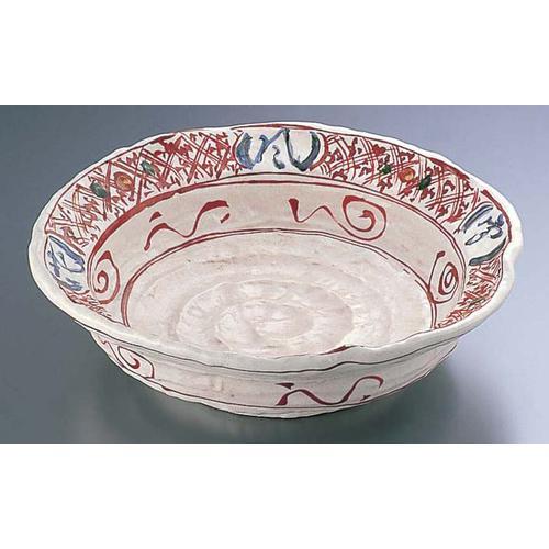 赤絵雪月花9.0大皿 深 B03-33 ビュッフェ用大皿(和食器)