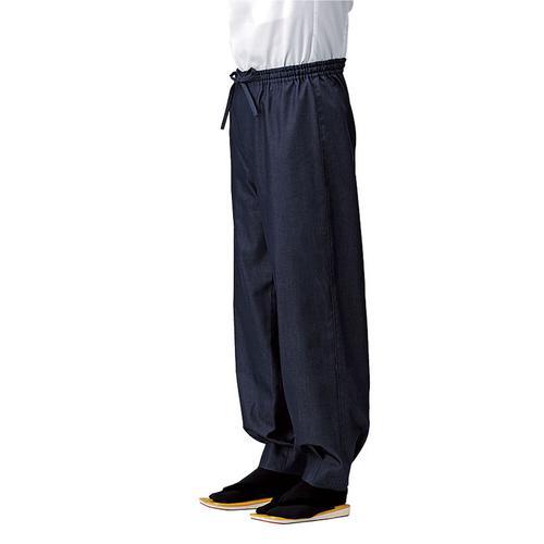 男女兼用ブライトデニムパンツ 紺 SLB674-1LL 作務衣
