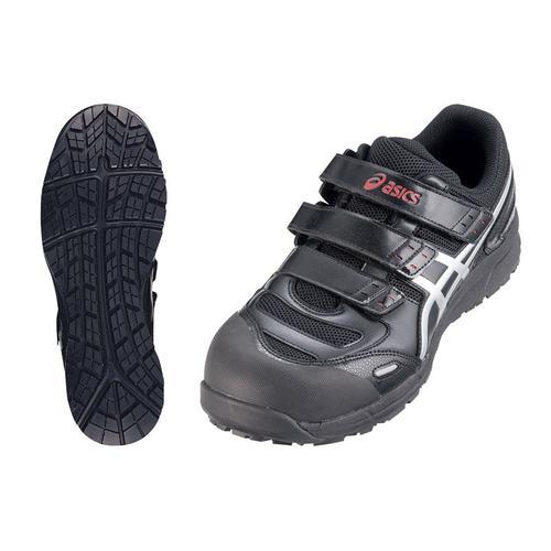 アシックス ウィンジョブ安全靴CP102 BK×シルバー26.0cm 安全靴