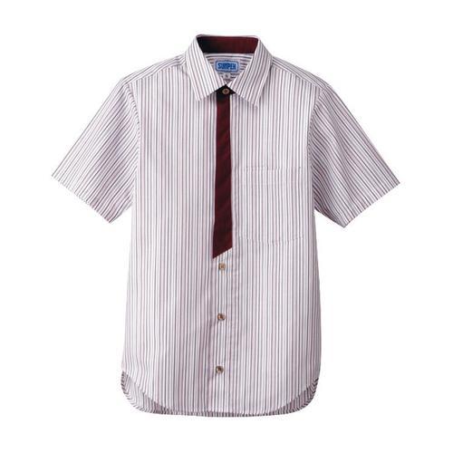 男女兼用半袖シャツ M BT-3123エンジ 半袖シャツ