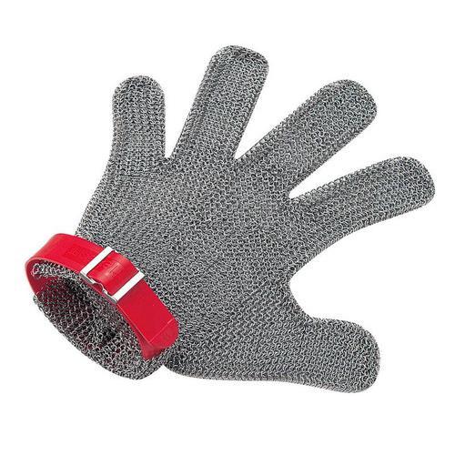 ニロフレックス メッシュ手袋5本指 MM5L-EF左手用(赤) 手袋(耐切創)