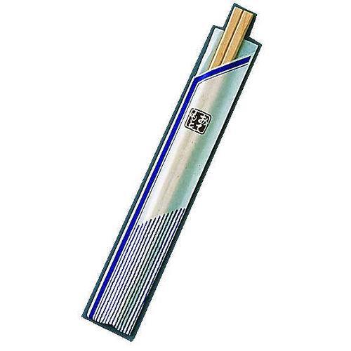 割箸袋入 ピース紺 白樺元禄 20.5cm (1ケース100膳×40入)
