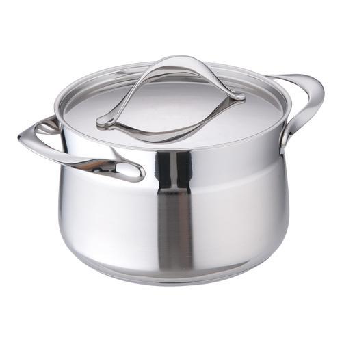 高品質な業務用調理器具を食器プロ特価で 業務用 18-10マイレディ 秀逸 シチューポット 本日限定 料理道具 蓋付 16cm 鍋類