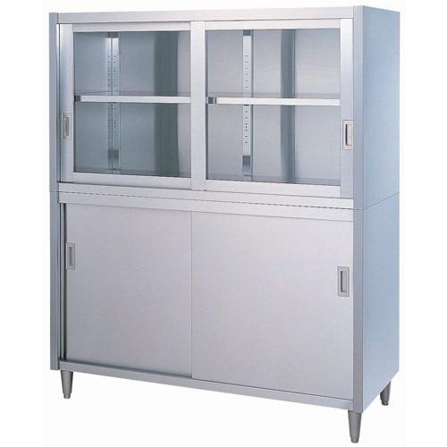 日本製 作業台 キッチン収納 シンコー CG型 食器戸棚 片面 CG-6045 厨房機器·設備 ステンレス SUS430 業務用 7-0754-0601