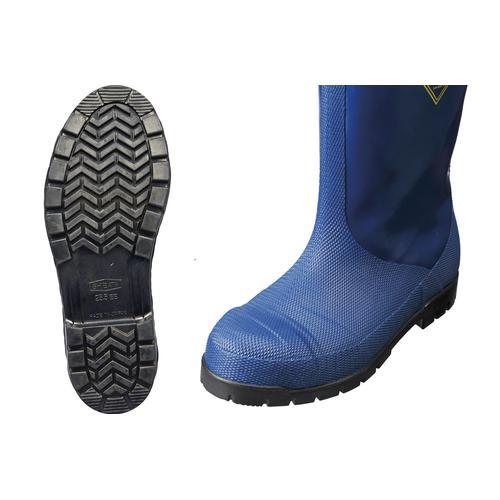 日本製 靴 サンダル スリッパ 冷蔵庫長靴 -40℃ NR021 24cm 長靴·白衣 ナイロンゴム引トッピング 業務用 7-1366-0801