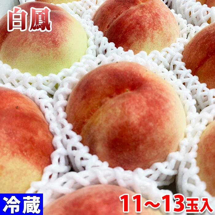 JAわかやま 送料無料激安祭 和歌山県産 桃 新色追加 白鳳 化粧箱 約4kg 11~13玉入