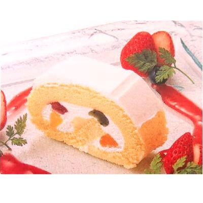 フリーカットしてお使いいただけるロールケーキです ロールケーキ テーブルマーク グランロール フルーツ650g×6本×1箱 冷凍 蔵 クリスマス パーティー バイキング 公式ストア 業務用 お取り寄せ品 用