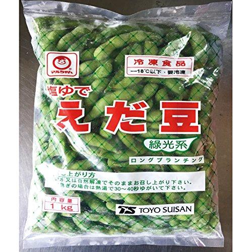自然解凍で使える便利な冷凍枝豆です 枝豆 冷凍 東洋水産 マルちゃん 塩ゆで えだ豆 1kg×2袋 流行のアイテム 2020A W新作送料無料 計2kg