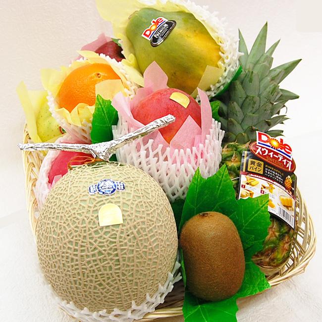 フルーツてんこ盛りデラックス(約6.5キロ)【果物 詰め合わせ 内祝 お見舞 かご盛り お供え 法事 彼岸】