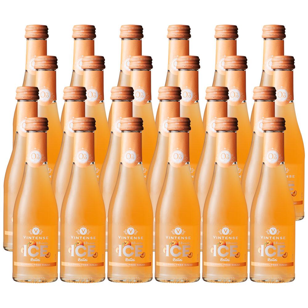 【送料無料|沖縄除く】ヴィンテンスアイス ベリーニ200ml(ノンアルコールワイン+ピーチ)24本セット