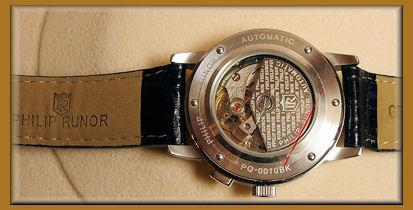 PHILIP RUNOR局情况正规派绅士自动卷机械式钟表表盘: 黑色和白2种
