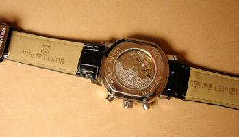 PHILIP RUNOR burakkutono形表自动卷机械手表立即交纳品