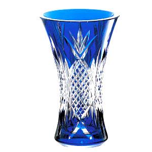 皇室御用品 カガミクリスタル 花器・花瓶 (青) ガラス(硝子)新築祝い 結婚祝い 開業祝い 開店祝い 母の日 敬老の日 記念日 退職祝いのプレゼント・贈り物・ギフトに! 業務用 フラワーベース 花瓶