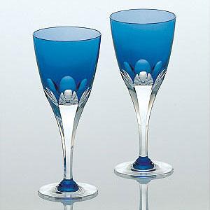 皇室御用品 カガミクリスタル ロイヤルブルー ペアワイングラス ガラス(硝子)母の日 敬老の日 誕生日 還暦祝い 退職祝い 記念品 結婚祝い 古希祝い 内祝い 引き出物 記念日 業務用 ギフト プレゼントに!マイグラス