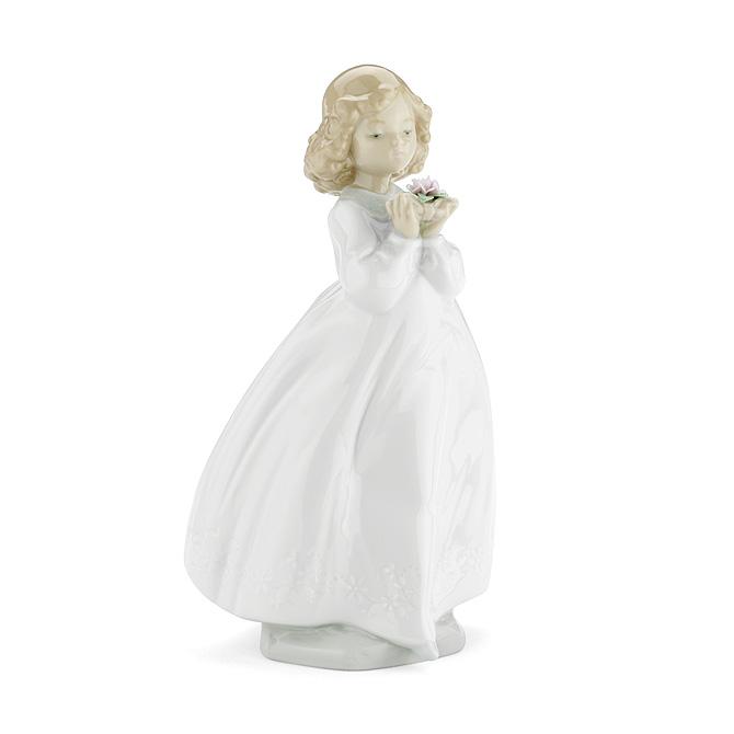 ナオ NAO 大好きなお花 02001444 THE FLOWER GIRL ポーセリン 陶器