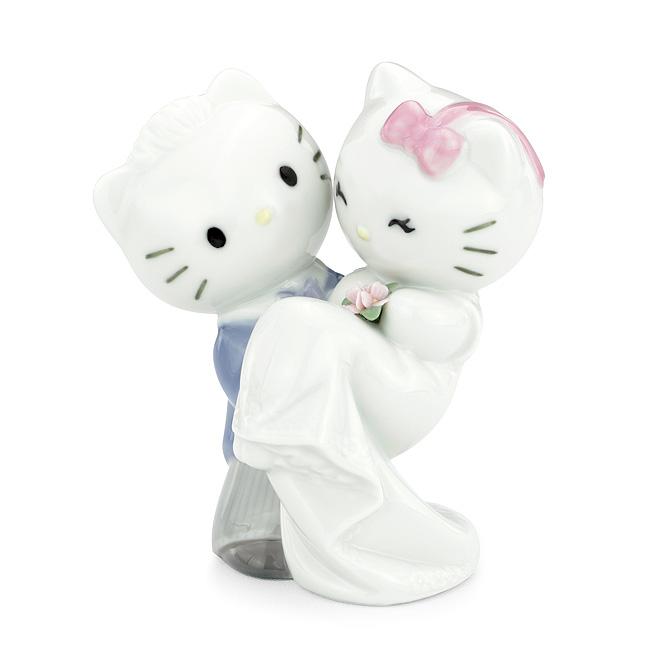 ナオ NAO ディアダニエル 02001662 HELLO KITTY GETS MARRIED ポーセリン 陶器 サンリオ ハローキティ 【ラッキーシール対応】