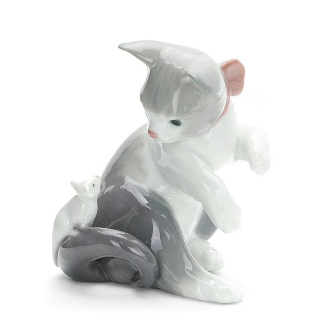 リヤドロ LLADRO 驚いた仔猫ちゃん 1005236 CAT AND MOUSE ポーセリン 陶器