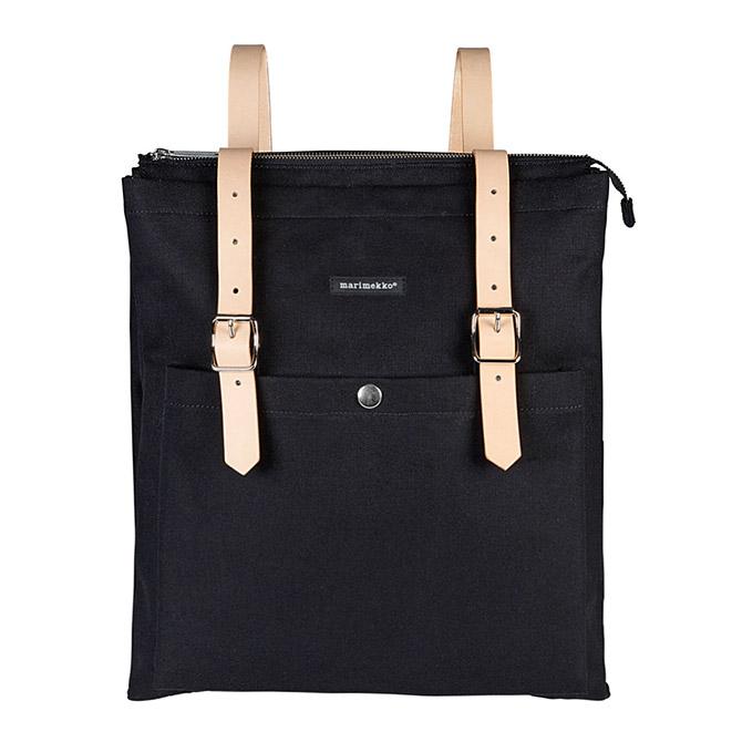 マリメッコ marimekko コットンキャンバス バックパック Eppu (ブラック) 040006 900 Eppu backpack 【ラッキーシール対応】