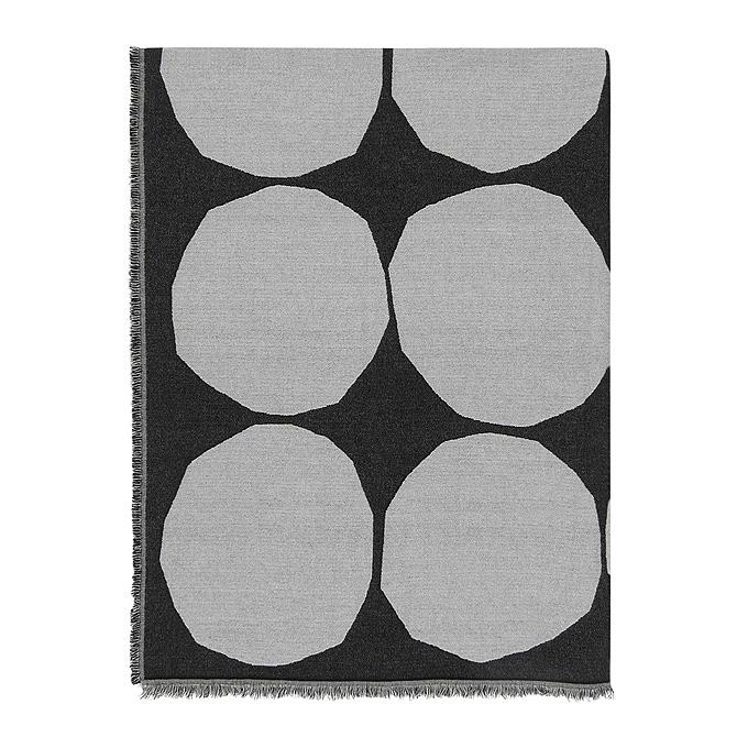 マリメッコ marimekko キヴェット ブランケット (オフホワイト×ブラック) Kivet blanket 069769 190 マフラー ストール ドット 【ラッキーシール対応】