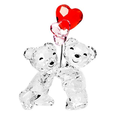 超大特価 スワロフスキー x SWAROVSKI フィギュリン&デコレーション cm クリスベアー 6.2 x 4.5 x Balloons 3.3 cm (クリア×レッド×ピンク) ハートバルーン 5185778 Kris Bear Heart Balloons, Cedar Field:8bb92165 --- mail.gomotex.com.sg