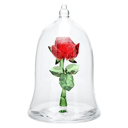 スワロフスキー SWAROVSKI ディズニー 美女と野獣 魔法のバラ 9 x 6.2 x 6.2 cm (クリア×レッド) エンチャンテッドローズ 5230478 ENCHANTED ROSE DISNY 【ラッキーシール対応】
