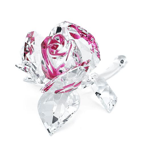 スワロフスキー SWAROVSKI ブロッサミング ローズ 5.1 x 9 x 6.1 cm (クリア×ピンク) 5248878 Blossoming Rose バラ 【ラッキーシール対応】