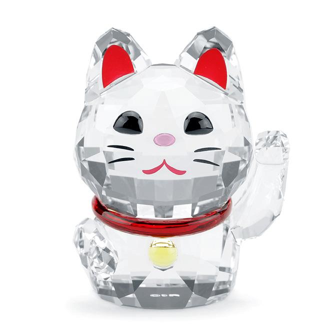 スワロフスキー SWAROVSKI フィギュリン 招き猫 5 x 3.3 x 4 cm (クリア) 5301582 Lucky Cat ネコ 猫 【ラッキーシール対応】