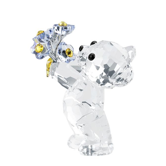 スワロフスキー SWAROVSKI クリスベア フォーゲットミーノット 4.5 x 2.6 x 3.7 cm (クリア×ブルー) 5427993 KRIS BEAR FORGET-ME-NOT クマ 【ラッキーシール対応】