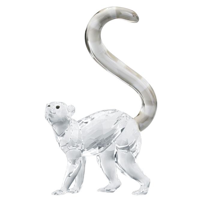 スワロフスキー SWAROVSKI キツネザル 9.9 x 6.2 x 2.6 cm (クリア) 5428565 LEMUR モンキー 猿 【ラッキーシール対応】
