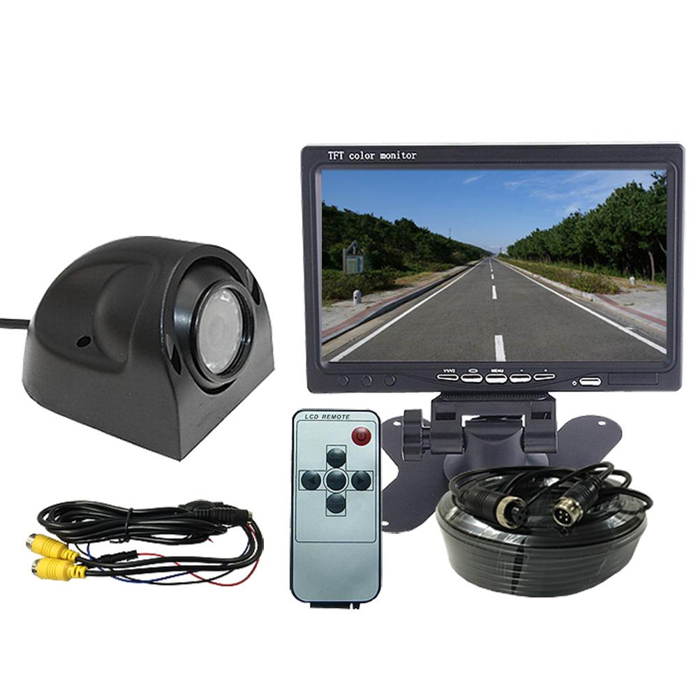 バックカメラセット サイドカメラセット 7インチTFT液晶モニター CCD 9LEDカメラ 広角120°12V/24V兼用 ◇ALW-OMT73SET-PRO   バックカメラ モニター セット 24v バックモニター カメラセット カー用品 モニターセット バック カメラ サイドカメラ ドライブレコーダー リア