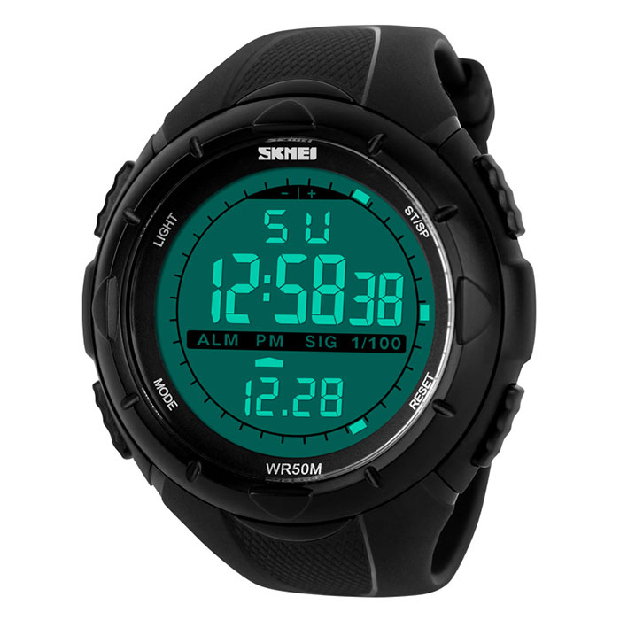f87edd0c55 防水&多機能 デジタル メンズウォッチ 腕時計 スポーツ アウトドア デジタル 大画面 アラーム ストップウォッチ