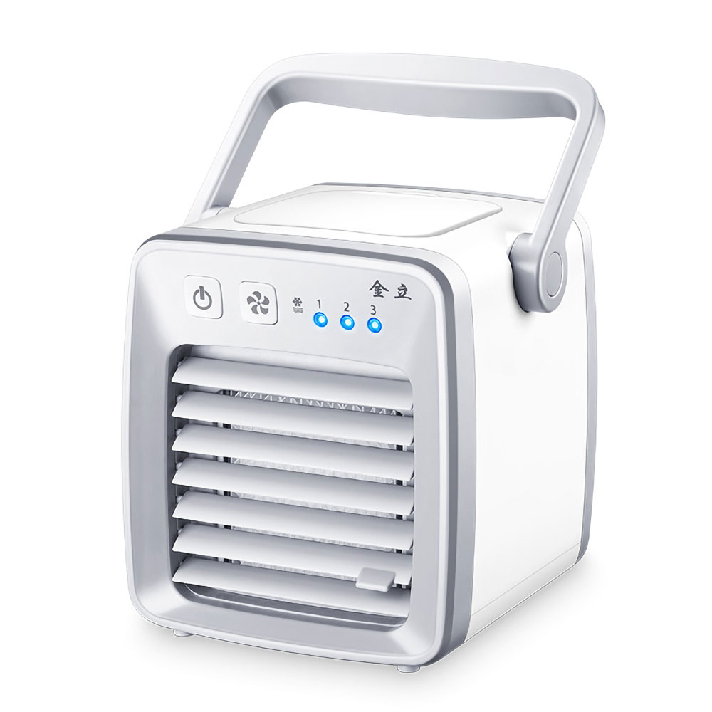 水冷却でエコで涼しい卓上ミニファン 卓上水冷却ファン 冷風扇 USB給電 風量3段階 デスクファン 卓上ファン 水タンク容量 350ml オフィス 扇風機 ホワイト ◇ALW-FAN-LY1801