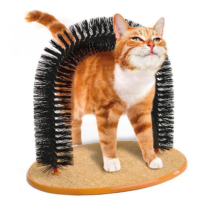 通るだけでお手軽にグルーミング グルーミング アーチ ブラシ 猫 取り外し可能 毛づくろい 購入 マッサージ 猫ブラシ 爪とぎ お手入れ 簡単 処理 ALWF-CAT-ARCH 国際ブランド