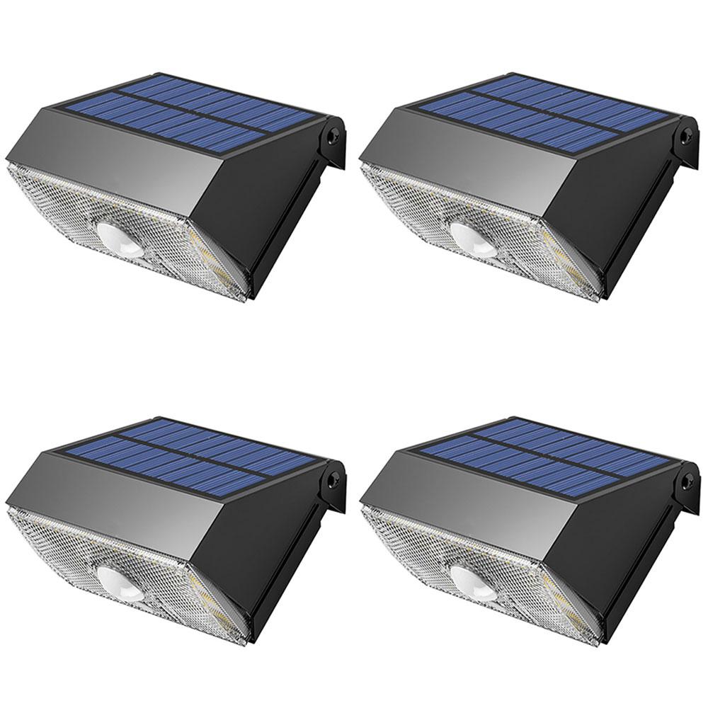 4個セット LED ソーラーライト 1000ルーメン 人感 センサーライト PIRモーションセンサー 夜間自動点灯 IP65防水 太陽光充電 屋外 玄関灯 ◇ALW-SWL-11-4SET