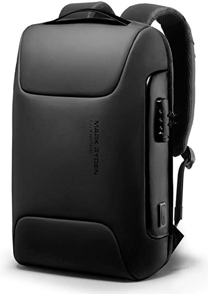 リュック 2020NEW MARK RYDEN TSAロック搭載 ビジネスリュック ラップトップバックパック USBポート 自立 リュック 15.6インチ PC対応 耐衝撃 盗難防止 防水 通勤 通学 旅行 おしゃれ ブラック