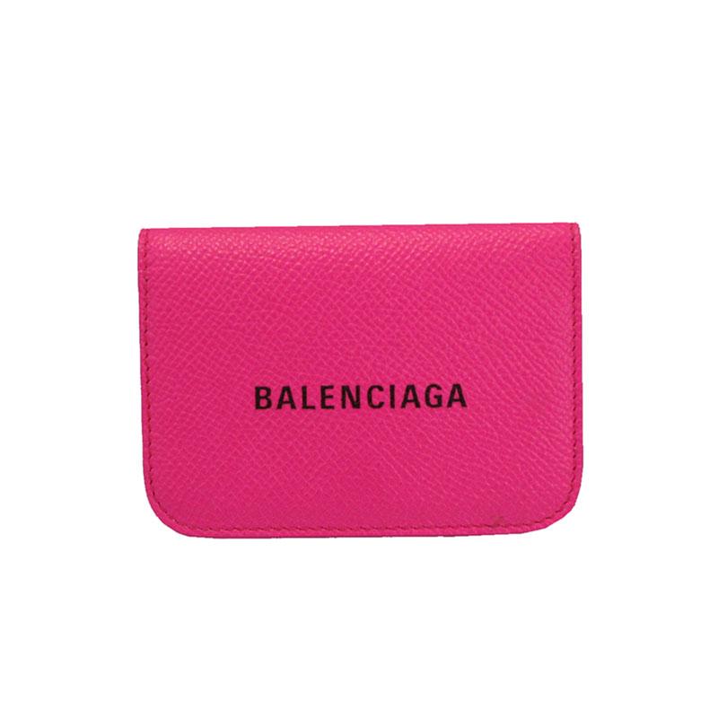 バレンシアガ 財布 BALENCIAGA コンパクト財布 三つ折り財布 593813 0OTV3 5660 ピンク【PAPIER MINI WALLET】 【送料無料】【あす楽対応】
