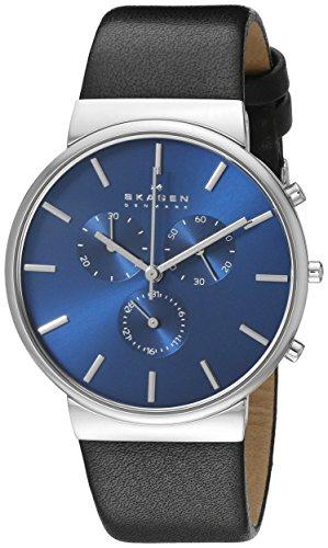 スカーゲン 腕時計 メンズ SKW6105 Skagen Men's SKW6105 Ancher Black Leather Watchスカーゲン 腕時計 メンズ SKW6105