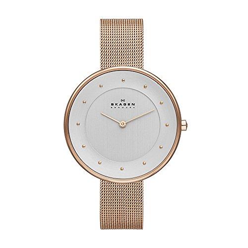 スカーゲン 腕時計 レディース SKW2142 Skagen Women's Gitte Quartz Stainless Steel Mesh Casual Watch, Color: Rose Gold-Tone (Model: SKW2142)スカーゲン 腕時計 レディース SKW2142