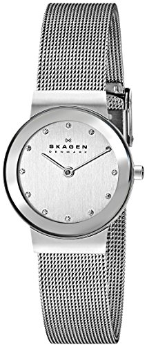スカーゲン 腕時計 レディース 355SMM1 Skagen Women's Ancher Quartz Stainless Steel Mesh Dress Watch, Color: Grey (Model: 355SMM1)スカーゲン 腕時計 レディース 355SMM1