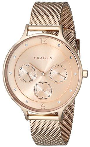 スカーゲン 腕時計 レディース SKW2314 Skagen Women's SKW2314 Anita Rose Gold-Tone Stainless Steel Watch with Mesh Braceletスカーゲン 腕時計 レディース SKW2314